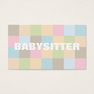 Cartes de visite de babysitter