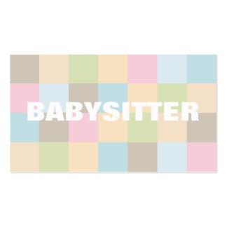 Cartes de visite de babysitter modèle de carte de visite