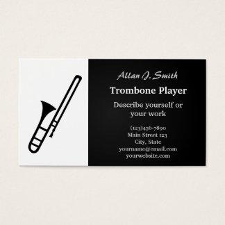 Cartes de visite de bande dessinée de trombone