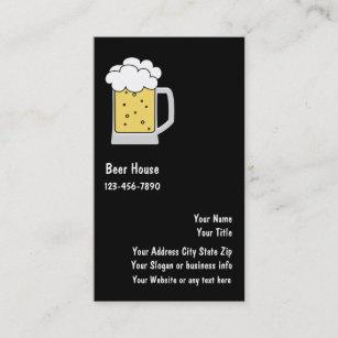 Cartes De Visite Bire Ou Brasserie
