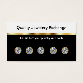 Cartes de visite de bijoutier
