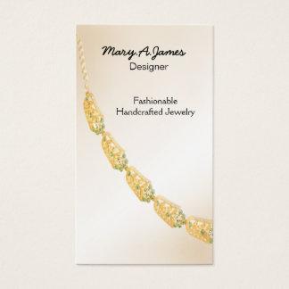 Cartes de visite de bijoux