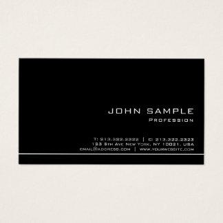 Cartes De Visite De blanc lustre noir moderne professionnel à la