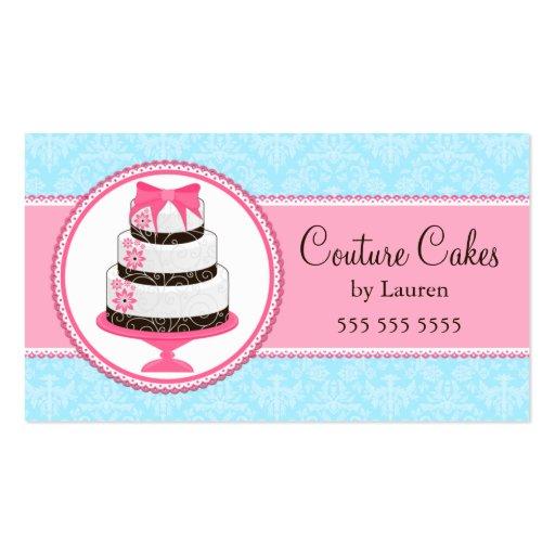 Cartes de visite de boulangerie de gâteau de coutu modèle de carte de visite