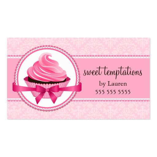 Cartes de visite de boulangerie de petit gâteau de carte de visite