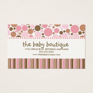 Cartes de visite de boutique de bébé