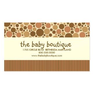 Cartes de visite de boutique de bébé carte de visite standard