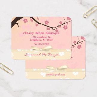 Cartes de visite de boutique de fleurs de cerisier