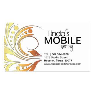 Cartes de visite de bronzage mobiles personnalisab modèle de carte de visite