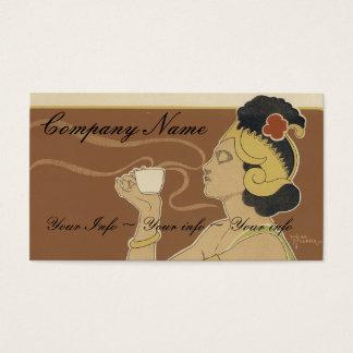 Cartes de visite de café ou de thé - art Nouveau