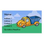 Cartes de visite de camion à benne basculante d'en modèles de cartes de visite
