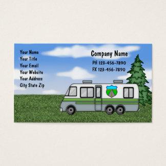 Cartes de visite de camping