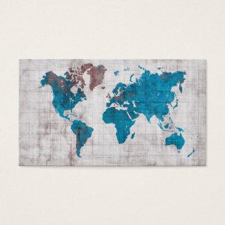 cartes de visite de carte du monde