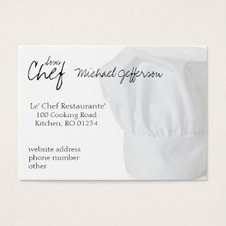 Cartes de visite de casquette de chef