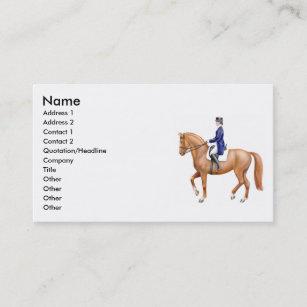 Cartes De Visite Cheval Dressage