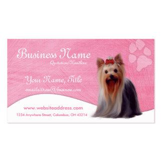 Cartes de visite de chien Yorkshire Yorkie Cartes De Visite Professionnelles