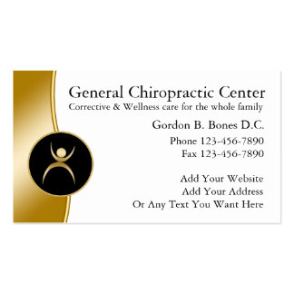 Cartes de visite de chiroprakteur carte de visite standard
