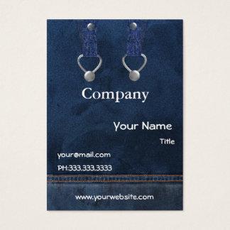 cartes de visite de combinaisons de denim