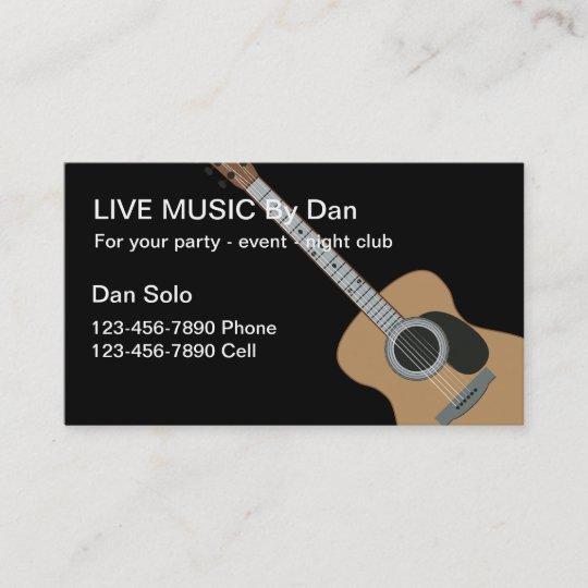 Cartes De Visite Comique Guitare