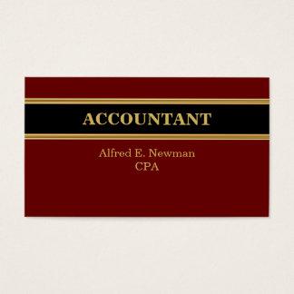 Cartes de visite de comptable