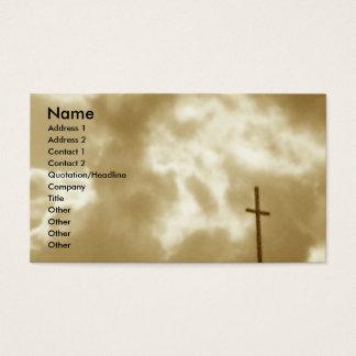 Cartes de visite de croix et de nuages