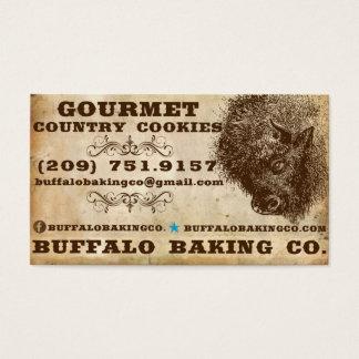 Cartes de visite de cuisson de Buffalo