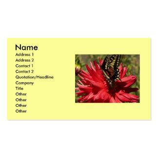 Cartes de visite de dahlia et de papillon de monar carte de visite standard