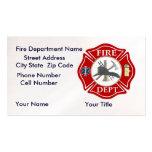 Cartes de visite de département du feu avec la cro modèles de cartes de visite