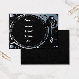 Cartes de visite de disc-jockey