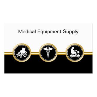 Cartes de visite de distributeur de matériel médic modèle de carte de visite