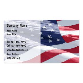 Cartes de visite de drapeau américain carte de visite