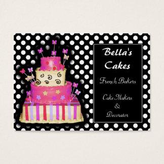 Cartes de visite de fabricants de gâteau