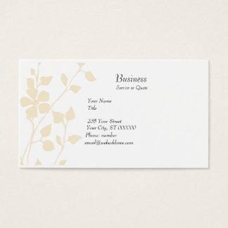 Cartes De Visite De fantaisie pastel floral pâle doucement