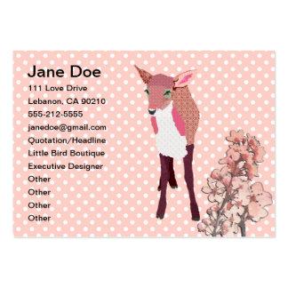 Cartes de visite de faon de fleurs de cerisier carte de visite