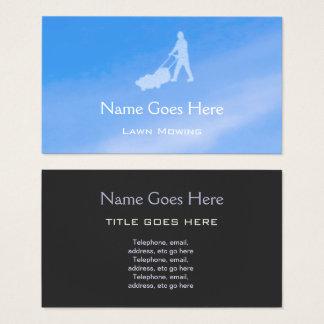 """Cartes de visite de fauchage de pelouse """"de ciel"""