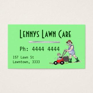 Cartes de visite de fauchage d'homme de pelouse