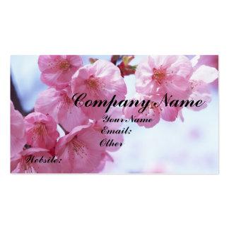 Cartes de visite de fleurs de cerisier carte de visite standard