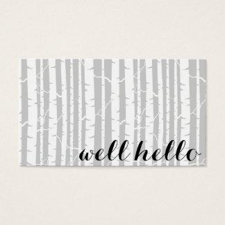 Cartes de visite de forêt de bouleau avec des