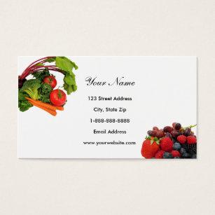 Cartes de visite fraise personnalis es - Fruits et legumes de a a z ...