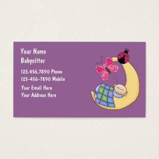 Cartes de visite de garde d'enfants