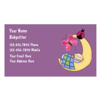 Cartes de visite de garde d'enfants cartes de visite professionnelles