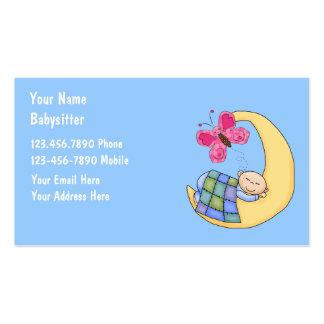 Cartes de visite de garde d'enfants carte de visite standard