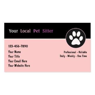Cartes de visite de garde d'enfants d'animal famil cartes de visite professionnelles