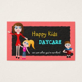 Cartes de visite de garde d'enfants de soin de