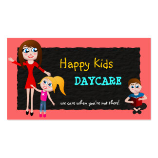 Cartes de visite de garde d'enfants de soin de carte de visite standard
