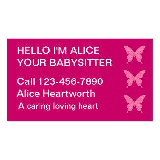 Cartes de visite de garde d'enfants simples modèle de carte de visite
