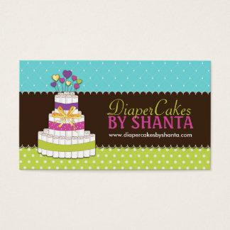 Cartes de visite de gâteau de couche-culotte