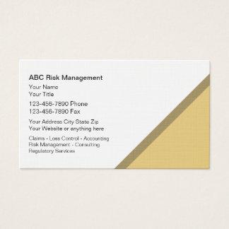 Cartes de visite de gestion des risques