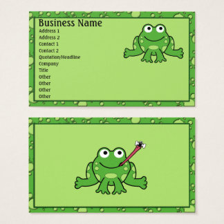 Cartes de visite de grenouille