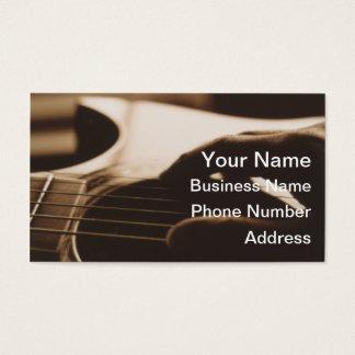 Cartes de visite de guitare